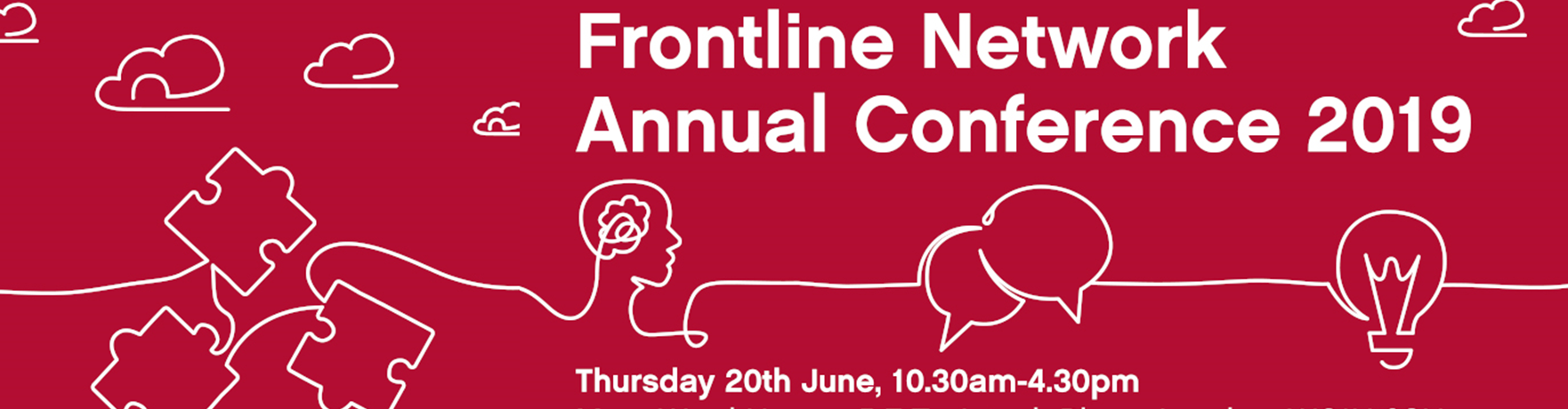 Frontline Network Annual Conference 2019 banner